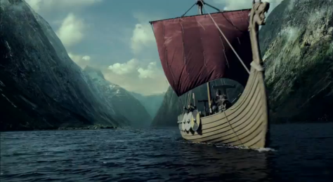 Viking Boat in History Channels Vikings