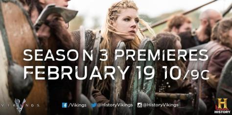 Vikings Season 3 premieres on February 19th 2015 on History Channel