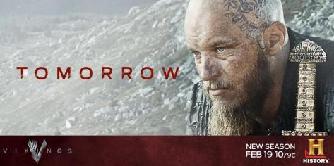 Travis Fimmel stars as Ragnar Lothbrok in the History Channels Vikings Season 3 promo pic
