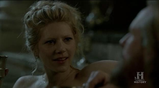 Lagertha (Katheryn Winnick) gets lucky in Episode 3 (entitled Warrior's Fate) Season 3 of History Channel's Vikings