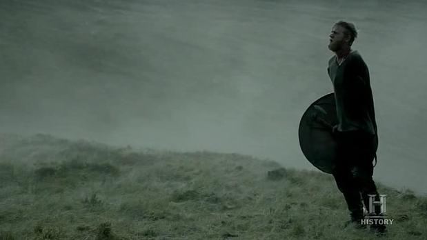 Torstein (Jefferson Hall) goes to battle in Episode 3 (entitled Warrior's Fate) Season 3 of History Channel's Vikings