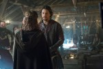 Kalf (Ben Robson) collects some skeleton's from Ragnar's (Travis Fimmel) closet in Episode 4 (entitled Scarred) Season 3 of History Channel's Vikings