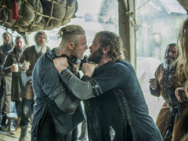 Rollo and Bjorn fight in Episode 5 (entitled The Usurper) Season 5