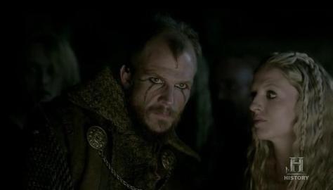 Floki (Gustaf Skarsgard) gets fanatical in Episode 5 (entitled The Usurper) Season 3 of History Channel's Vikings