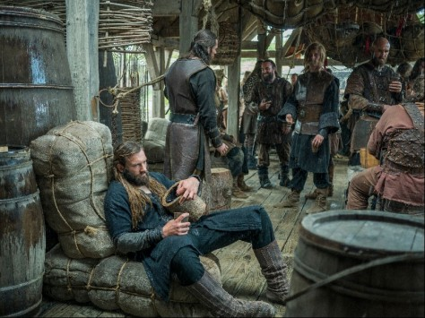Rollo (Clive Standen) gets drunk again in Episode 5 (entitled The Usurper) Season 3 of History Channel's Vikings