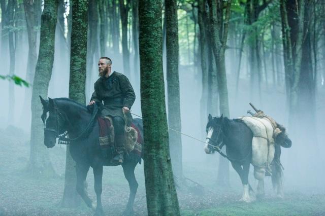 Ragnar Lothbrok (Travis Fimmel) buries Athelstan (George Blagden) in Episode 6 (entitled Born Again) Season 3 of History Channel's Vikings