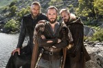 Ragnar (Travis Fimmel), Athelstan (George Blagden) and Floki (Gustaf Skarsgard) star in Episode 6 (entitled Born Again) Season 3 of History Channel's Vikings