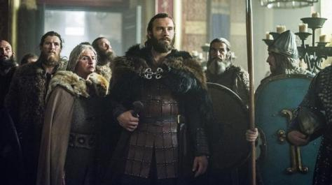 Episode 10 Season 3 of History Channel's Vikings Rollo meets Gisela 2