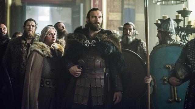 Episode 10 Season 3 of History Channel's Vikings Rollo meets Gisela 2