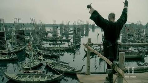 Floki (Gustaf Skarsgard) prepares for battle in Episode 8 (entitled To The Gates!) Season 3 of History Channel's Vikings