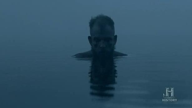 Floki (Gustaf Skarsgard) suffers in Episode 8 (entitled To The Gates!) Season 3 of History Channel's Vikings