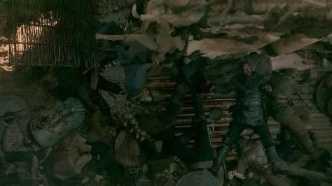 Ragnar (Travis Fimmel) falls down in Episode 8 (entitled To The Gates!) Season 3 of History Channel's Vikings