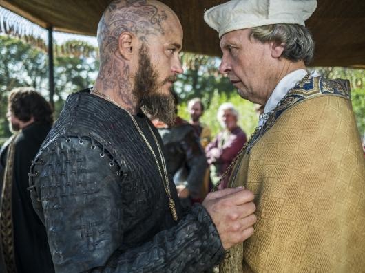 Ragnar (Travis Fimmel) gets baptised in Episode 9 (entitled Breaking Point) Season 3 of History Channel's Vikings