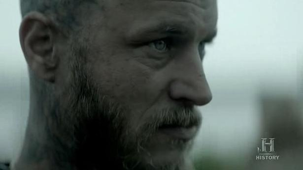 Ragnar (Travis Fimmel) oversees in Episode 8 (entitled To The Gates!) Season 3 of History Channel's Vikings