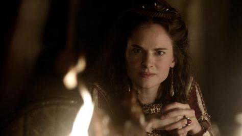 Amy Bailey stars as Queen Kwenthrith in season 4 of Hisotry Channel's Vikings